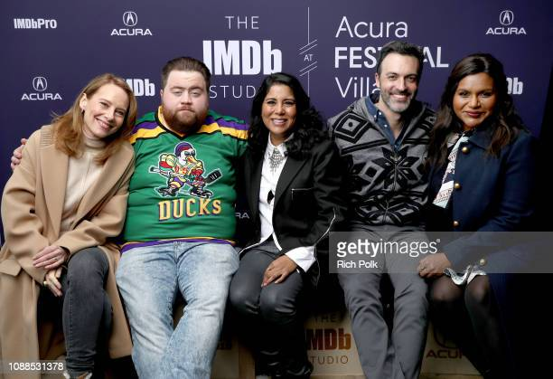 Amy Ryan, Paul Walter Hauser, Nisha Gantra, Reid Scott, and Mindy Kaling of 'Late Night' attend The IMDb Studio at Acura Festival Village on location...