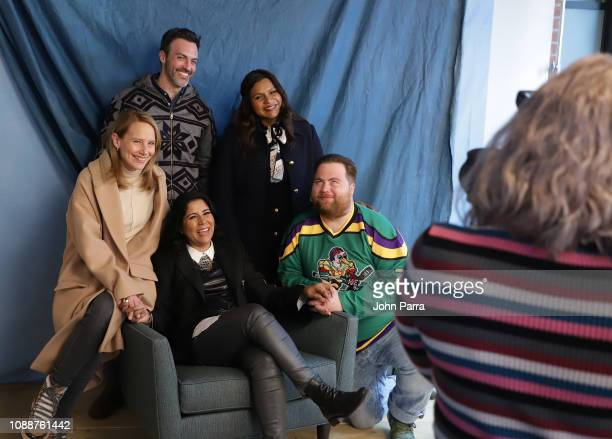 Amy Ryan Reid Scott Director Nisha Ganatra Mindy Kaling and Paul Walter Hauser from Late Night attend The Hollywood Reporter 2019 Sundance Studio At...