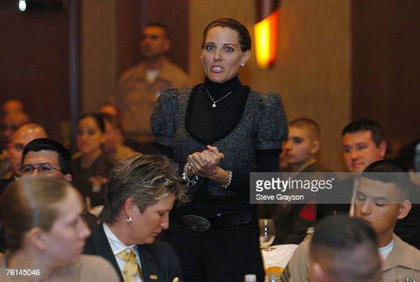 Amy Sabbatini wife of PGA TOUR member Rory Sabbatini gives thanks to United States Armed Forces Personel at the 2007 Military Appreciation Luncheon...