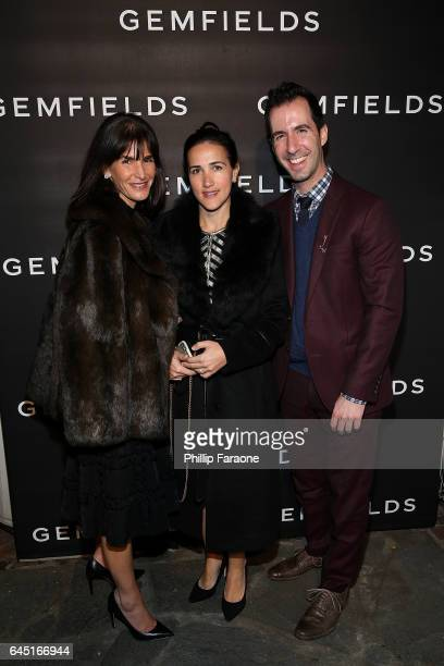 Amy Sabel Dana Gardner and Ridley attend Gemfields celebration of Ruth Negga and Karla Welch at Chateau Marmont on February 24 2017 in Los Angeles...