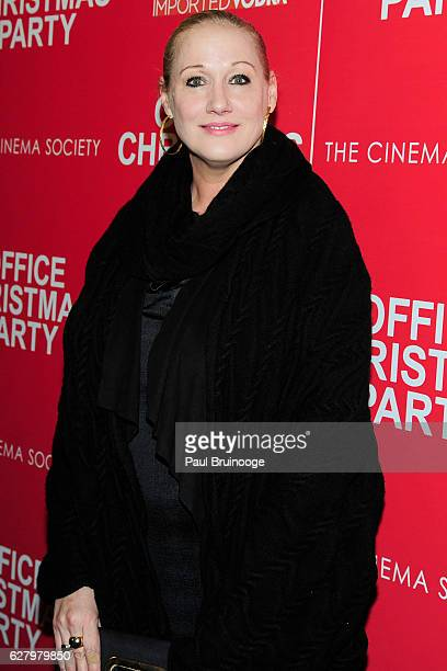 "Amy Sacco attends the Paramount Pictures with Paramount Pictures with The Cinema Society & Svedka Host a Screening of ""Office Christmas Party"" at..."