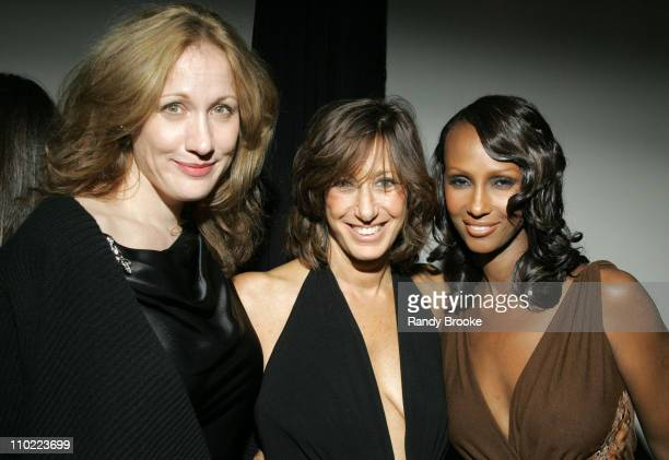 Amy Sacco Donna Karan and Iman during Donna Karan Celebrates the First Twenty Years with the Launch of 'The Journey of a Woman 20 Years of Donna...