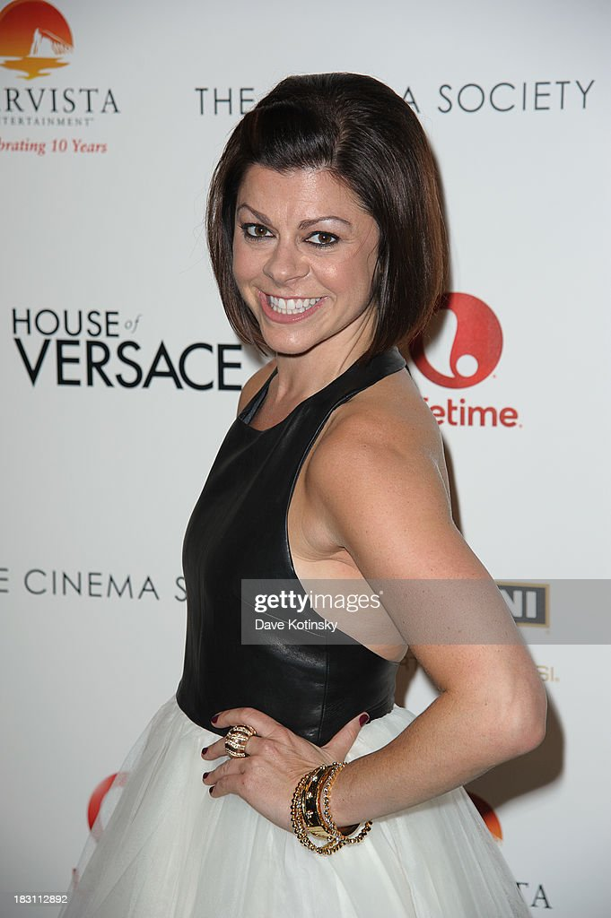 Amy Salinger attends Marvista Entertainment And Lifetime With The Cinema Society Host A Screening Of 'House Of Versace' at MOMA on October 3, 2013 in New York City.