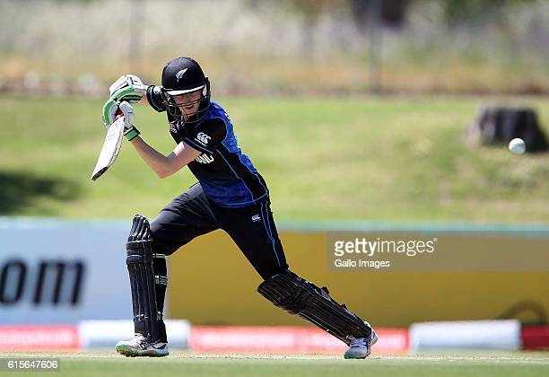 Amy Satterthwaite of New Zealand during the 5th Women's ODI match between South Africa and New Zealand at Boland Park on October 19 2016 in Paarl...