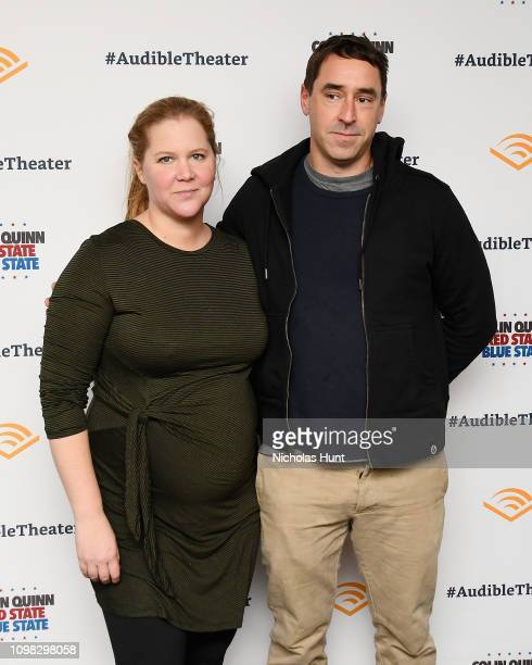 Amy Schumer and Chris Fischer attend the Colin Quinn Red State Blue State Opening Night at the Minetta Lane Theatre on January 22 2019 in New York...