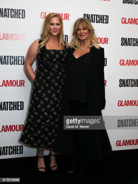 Amy Schumer and Goldie Hawn attend a special screening of 'Snatched' at The Soho Hotel on April 26 2017 in London England