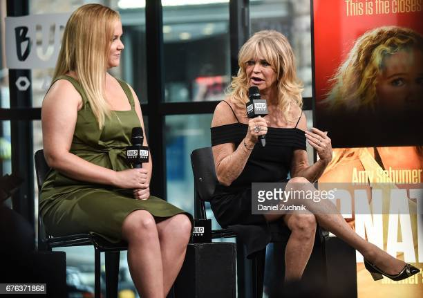 Amy Schumer and Goldie Hawn attend the Build Series to discuss the film 'Snatched' at Build Studio on May 2 2017 in New York City