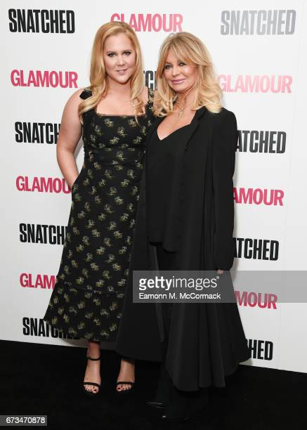 Amy Schumer and Goldie Hawn attend the 'Snatched' special screening on April 26 2017 in London United Kingdom