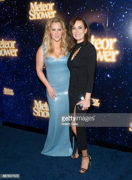Amy Schumer and Laura Benanti attend the 'Meteor Shower' opening night on Broadway on November 29 2017 in New York City