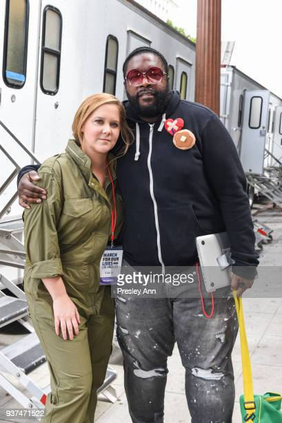 Amy Schumer and Questlove attend March For Our Lives Los Angeles on March 24, 2018 in Los Angeles, California.