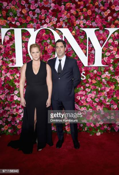 Amy Schumer and US chef Chris Fischer attends the 72nd Annual Tony Awards at Radio City Music Hall on June 10 2018 in New York City