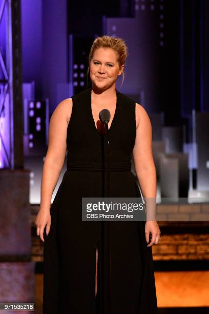 Amy Schumer at THE 72nd ANNUAL TONY AWARDS broadcast live from Radio City Music Hall in New York City on Sunday June 10 2018 on the CBS Television...