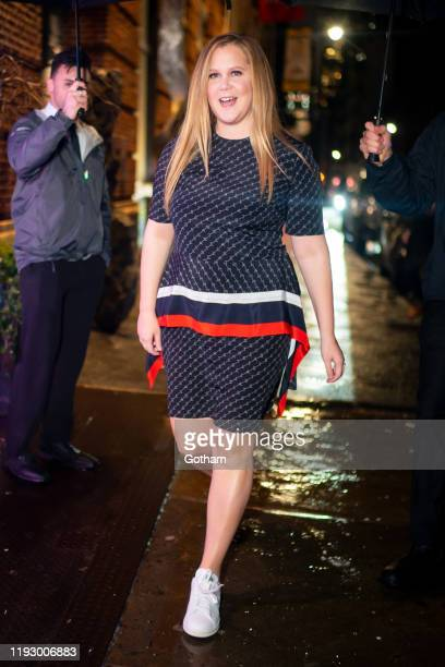 Amy Schumer attends Stella McCartney holiday party in SoHo on December 09 2019 in New York City