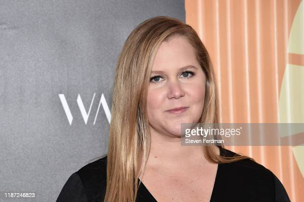 Amy Schumer attends the Africa Outreach Project Fundraiser hosted by Charlize Theron at The Africa Center on November 12 2019 in New York City