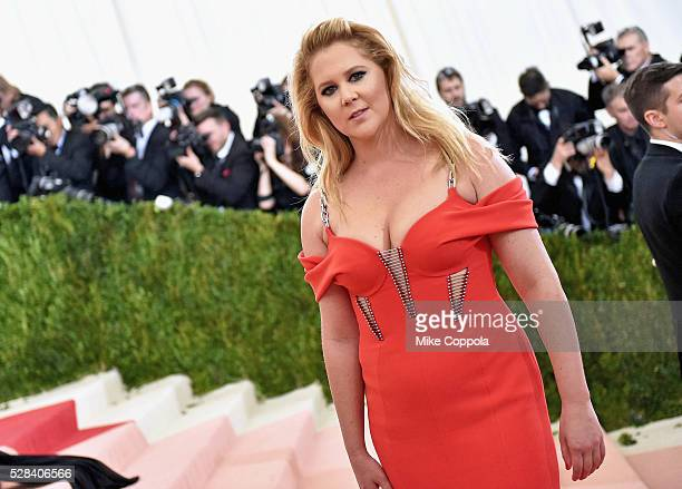 Amy Schumer attends the Manus x Machina Fashion In An Age Of Technology Costume Institute Gala at Metropolitan Museum of Art on May 2 2016 in New...