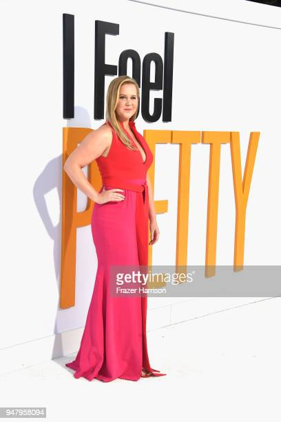 Amy Schumer attends the premiere of STX Films' I Feel Pretty at Westwood Village Theatre on April 17 2018 in Westwood California