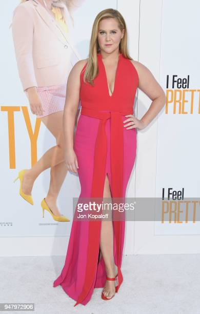 Amy Schumer attends the premiere of STX Films' 'I Feel Pretty' at Westwood Village Theatre on April 17 2018 in Westwood California