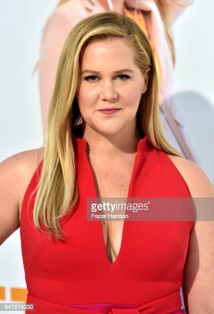 Amy Schumer atttends the Premiere Of STX Films' 'I Feel Pretty' at Westwood Village Theatre on April 17 2018 in Westwood California
