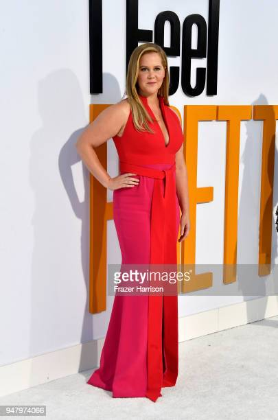 Amy Schumer atttends the Premiere Of STX Films' I Feel Pretty at Westwood Village Theatre on April 17 2018 in Westwood California