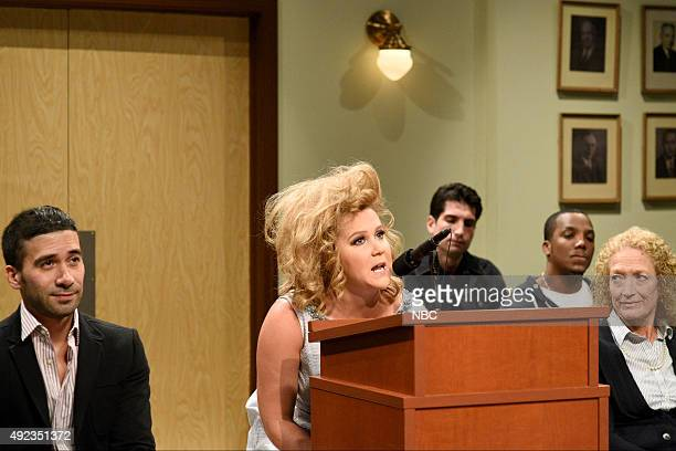 LIVE Amy Schumer Episode 1685 Pictured Amy Schumer Amy Sherman during the City Council Meeting sketch on October 10 2015