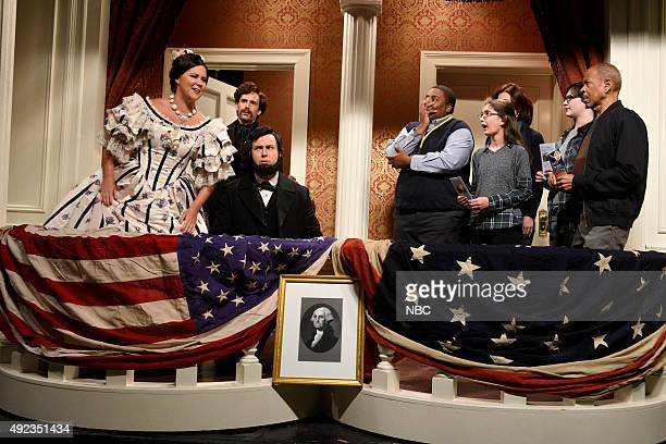 LIVE Amy Schumer Episode 1685 Pictured Amy Schumer as Mary Todd Lincoln Kyle Mooney as John Wilkes Booth Taran Killam as President Lincoln and Kenan...