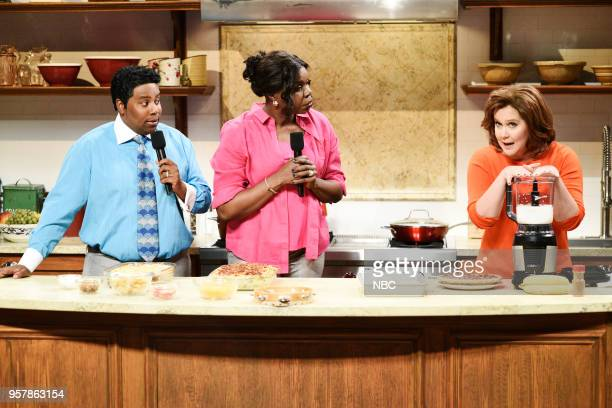 LIVE 'Amy Schumer' Episode 1745 Pictured Kenan Thompson as Pervis Scott Leslie Jones as Traci Scott Amy Schumer as Kayla Manning during 'Gospel...