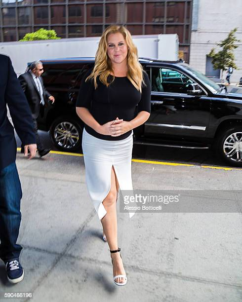 Amy Schumer is seen pretaping 'CBS This Morning' TV Show on August 16 2016 in New York New York
