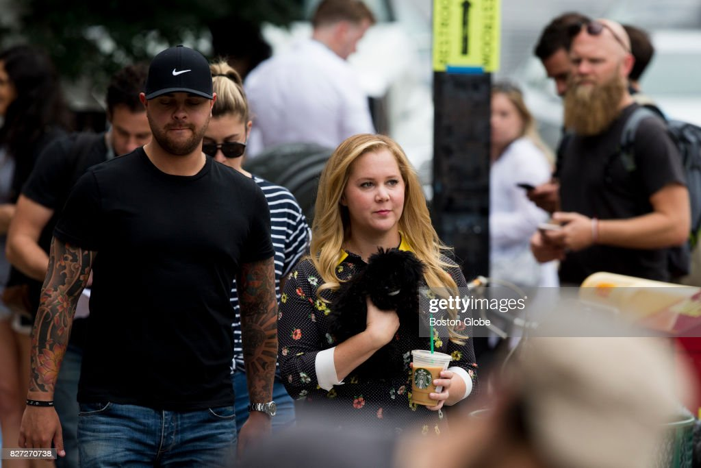 Amy Schumer on the set of a new movie filming on Tremont Street in
