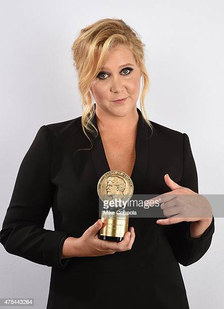 Amy Schumer poses with award during The 74th Annual Peabody Awards Ceremony at Cipriani Wall Street on May 31 2015 in New York City