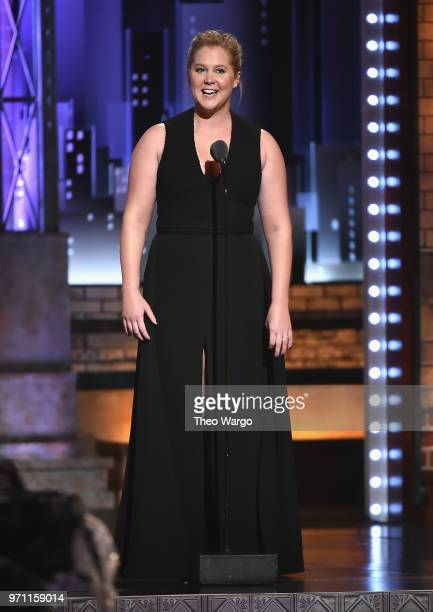 Amy Schumer presents an award onstage during the 72nd Annual Tony Awards at Radio City Music Hall on June 10 2018 in New York City