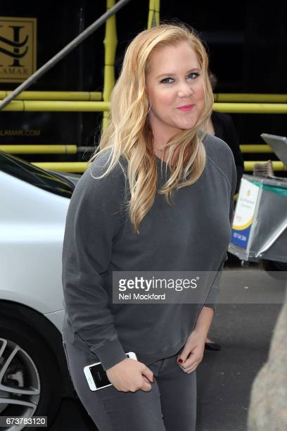 Amy Schumer seen at Magic Radio Studios promoting her new movie 'Snatched' on April 27 2017 in London England