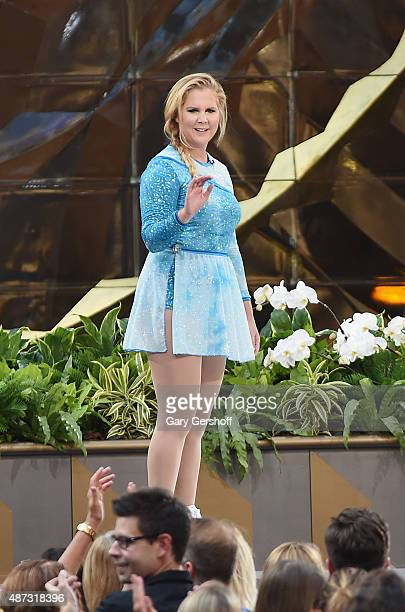 Amy Schumer seen during a taping of 'The Ellen DeGeneres Show' Season 13 BiCoastal Premiere at Rockefeller Center on September 8 2015 in New York City
