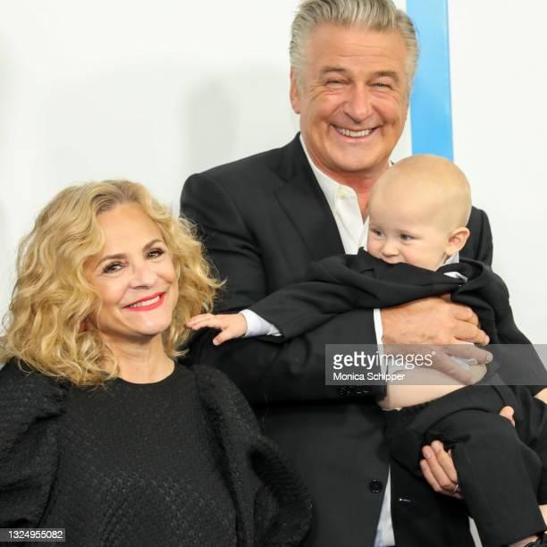 "Amy Sedaris, Alec Baldwin and Eduardo Baldwin attend ""The Boss Baby: Family Business"" World Premiere at SVA Theater on June 22, 2021 in New York City."