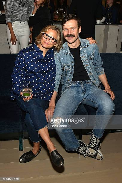 Amy Sedaris and Adam Selman attend the Jeff Koons x Google launch on May 09 2016 in New York New York