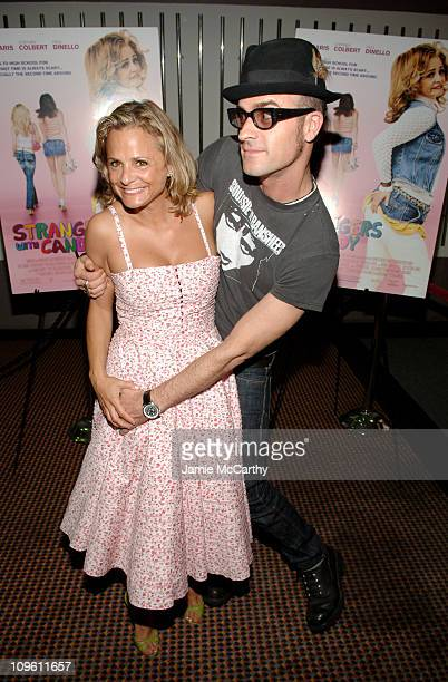 Amy Sedaris and Justin Theroux during THINKFilm Presents The New York Premiere of 'Strangers With Candy' at Cinema 123 in New York City New York...