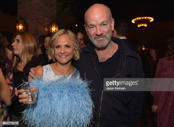 "Amy Sedaris and Michael Stipe attend the premiere screening and party for truTV's new comedy series ""At Home with Amy Sedaris"" at The Bowery Hotel on..."