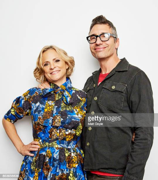 Amy Sedaris and Paul Dinello pose for a portrait at the Tribeca TV festival at Cinepolis Chelsea on September 22 2017
