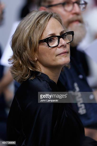 Amy Sedaris attends the Adam Selman Presentation MercedesBenz Fashion Week Spring 2015 at Algus Greenspon Gallery on September 5 2014 in New York City