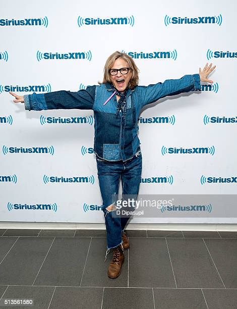 Amy Sedaris visits SiriusXM Studios on March 3 2016 in New York City