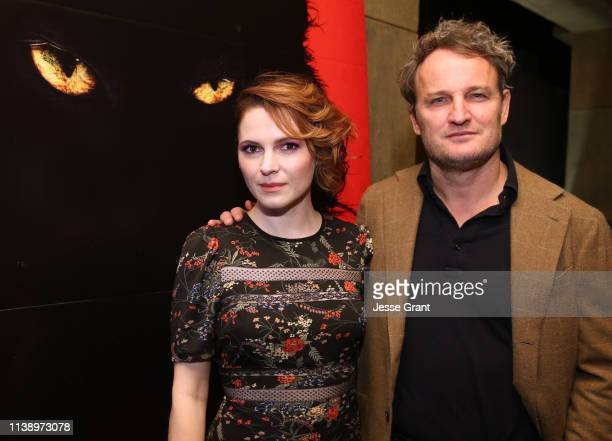 Amy Seimetz and Jason Clarke attend a Beyond Fest screening of 'Pet Sematary' at The Egyptian Theatre on March 28 2019 in Los Angeles California