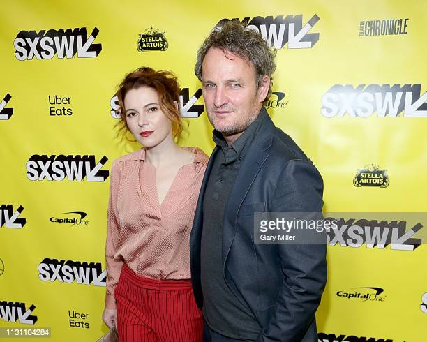 Amy Seimetz and Jason Clarke attend the world premiere of 'Pet Sematary' at the Paramount Theatre during the 2019 SXSW Conference And Festival on...