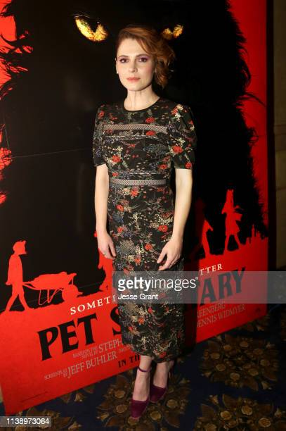 Amy Seimetz attends a Beyond Fest screening of 'Pet Sematary' at The Egyptian Theatre on March 28 2019 in Los Angeles California