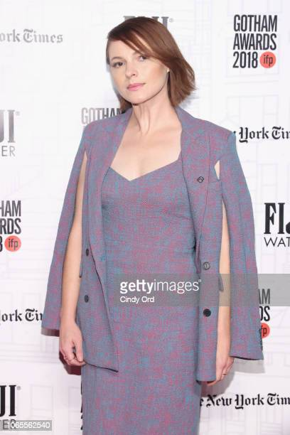 Amy Seimetz attends the 2018 IFP Gotham Awards with FIJI Water at Cipriani Wall Street on November 26 2018 in New York City