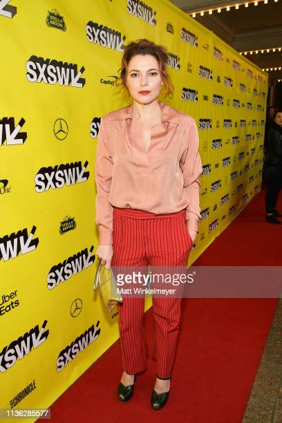 Amy Seimetz attends the 'Pet Sematary' Premiere 2019 SXSW Conference and Festivals at Paramount Theatre on March 16 2019 in Austin Texas