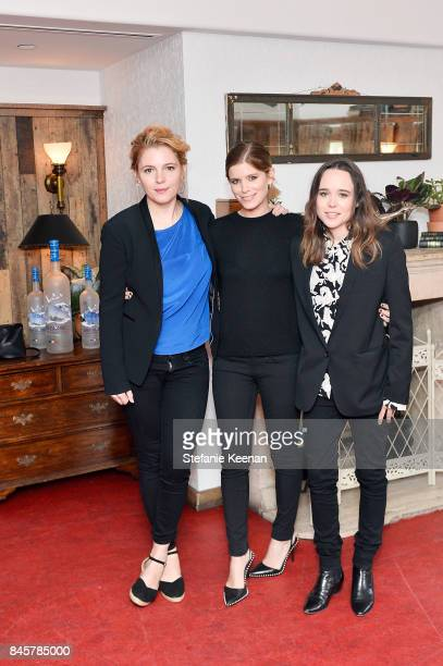 Amy Seimetz Kate Mara and Ellen Page at the MY DAYS OF MERCY premiere party hosted by GREY GOOSE Vodka and Soho House on September 11 2017 in Toronto...