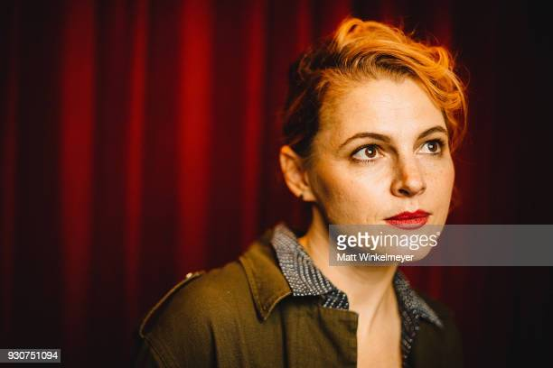 Amy Seimetz poses for a portrait at the 'Wild Nights With Emily' Premiere 2018 SXSW Conference and Festivals at Paramount Theatre on March 11 2018 in...