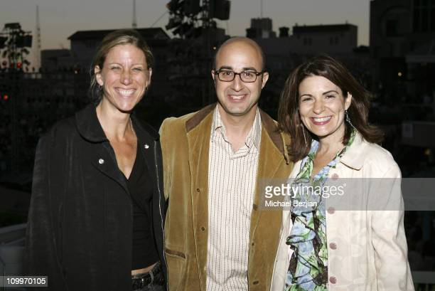Amy Sewell David Dinerstein and Marily Agrelo during 2005 Los Angeles Film Festival Mad Hot Ballroom Screening at California Plaza in Los Angeles...