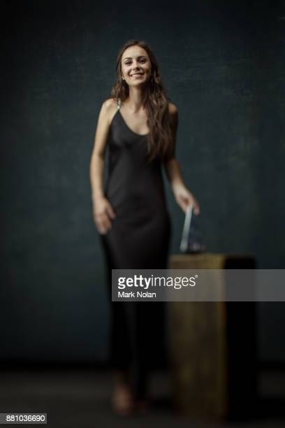 Amy Shark poses for a portrait with an ARIA for Break Through Artist during the 31st Annual ARIA Awards 2017 at The Star on November 28 2017 in...