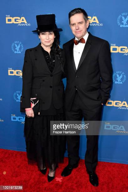 Amy ShermanPalladino and Daniel Palladino arrive for the 72nd Annual Directors Guild Of America Awards at The Ritz Carlton on January 25 2020 in Los...