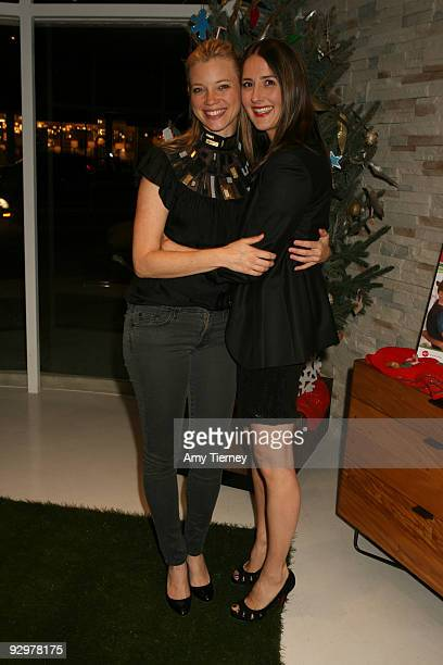 "Amy Smart and Anna Getty attend Anna Getty's ""I'm Dreaming of a Green Christmas"" Book Launch Party at Environment Furniture on November 10, 2009 in..."
